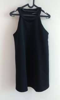 Black Something Borrowed Halter Dress