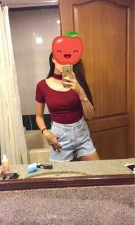 Red choker top