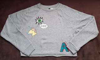 Authentic H&M Semi Crop Sweatshirt