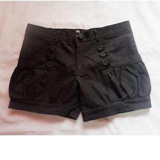 Black Bubble Shorts