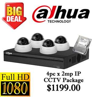 Dahua 2MP IP CCTV Package 4 ****