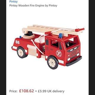 Toy Pin Fire Engine