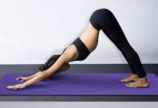 Yoga Mat With Body Alignment Lines