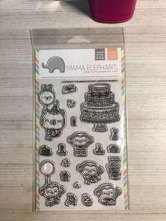 Mama elephant clear stamps birthday monkeys