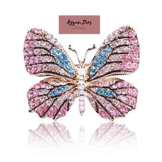 Rhinestones Butterfly Brooch
