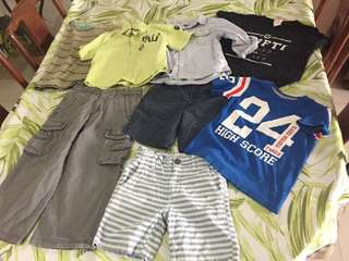 8 pieces boys bundle 3-5 years