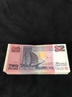 Ship Series $2 Purple 100 pcs