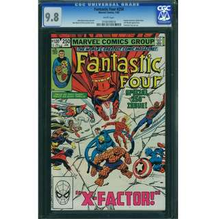Marvel Comics FANTASTIC FOUR #250 CGC 9.8 White Pages John Byrne Story & Art. Bronze Age Key.