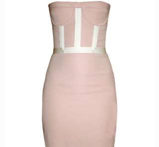 Camilla and Marc Pink Bustier Dress Size 6