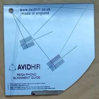 Phono Alinement Tool for Rega tables