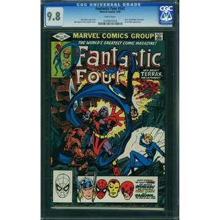 Marvel Comics FANTASTIC FOUR #242 CGC 9.8 White Pages John Byrne Story & Art.