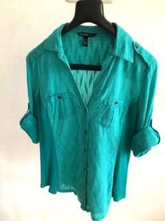 Mango Turquoise Shirt