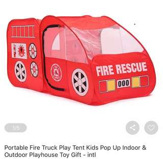 Fire Engine Foldable Tent