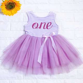 🚚 Instock - 1st Purple Birthday Dress