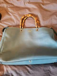 Blue Gucci hand bag authentic