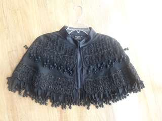Repriced Kate Moss x Topshop Black elbow length cape