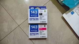 BNIB Epson Printer 143 Ink - Black & Magenta
