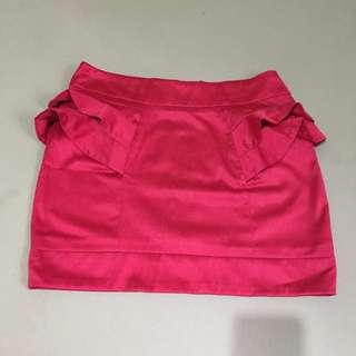Dark Fuschia Pink Skirt