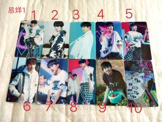 Tfboys sticker card