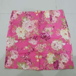 Rok bunga flower pink