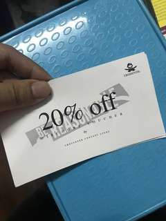 CROSSOVER 20% DISCOUNT VOUCHER