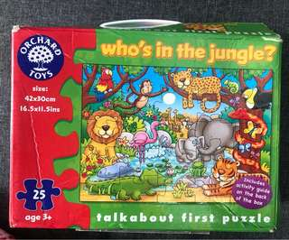 Orchard toys Who's in the Jungle 25 piece puzzle