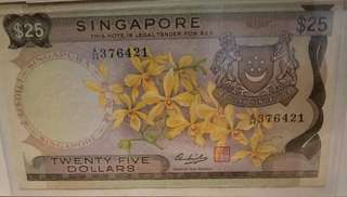 Orchid $25 note A/34 376421
