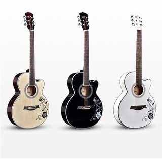 Floral Acoustic Guitar