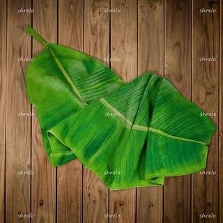 Taplak meja unik daun pisang