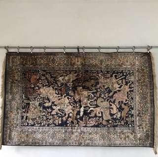100% Indian Pure Silk Carpet