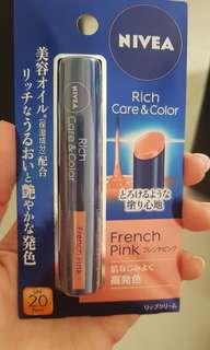 nivea lip gloss - French pink