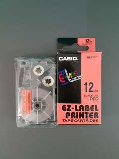 Casio EZ- Label Printer Tape Cartridge - 12mm