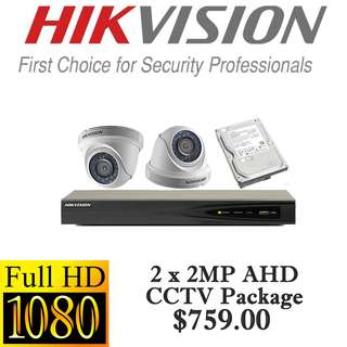 HIKvision 1080P AHD CCTV Package 2 ****