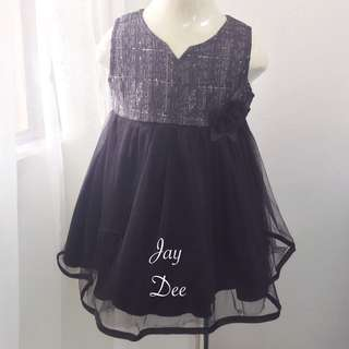 ❤️Baby Tutu Dress (Black Rose)❤️