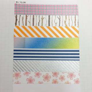 $0.70/m Washi Tape Samples