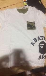 Bape white shirt