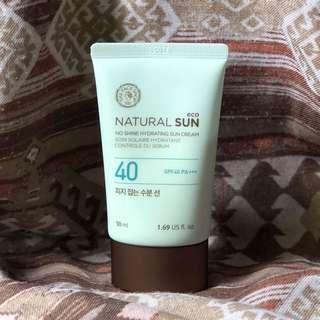 The Face Shop Natural Sun No Shine Hydrating Sun Cream 防曬