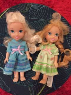 Disney dolls set of 2