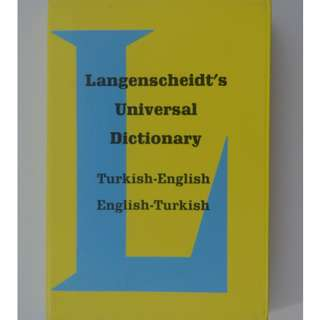 LANGENSCHEIDT'S TURKISH-ENGLISH/ENGLISH-TURKISH POCKET DICTIONARY (10.5X7.5cm)