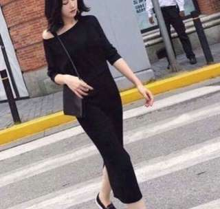 Black Maxi with Pullover (Terno)