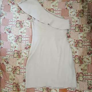 MANGO one shoulder dress