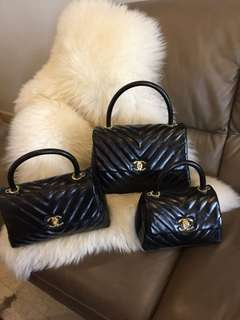 CHANEL COCO CHEVRON BLACK SERIES