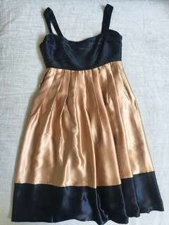 Zara Black and Gold Sleeveless Cocktail Dress