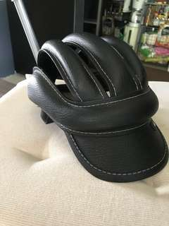 vintage cycling helmet (leather)