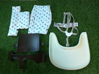 Strokke Tripp Trapp harness, tray, baby set and cushion