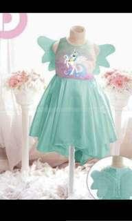 unicorn dress green