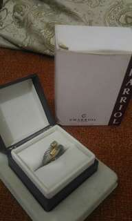 Authentic charriol ring two tone
