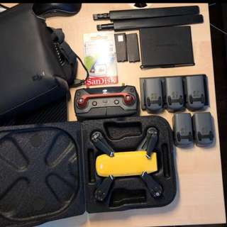 DJI Spark with a lot of STUFF. No need to buy any accessories after getting this!