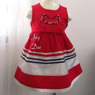 ❤️Cotton Dress (Stripe Red Cream)❤️