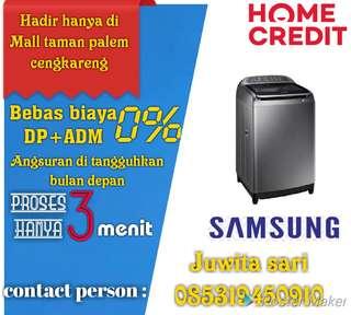 Mesin cuci samsung promo kredit bebas biaya DP+ADM